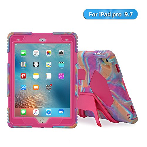 Super Slim Smart Leather Cover Case for Apple iPad Pro 9.7 (pink) - 8