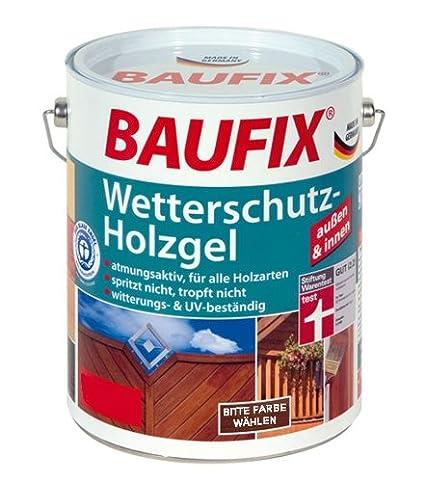 Baufix - Gel para madera - protección contra intemperie 2,5 L - roble claro