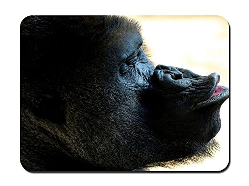 Goofy Gorilla Animal - #48216 - Mouse Pad Customized Rectangle Non-Slip Rubber Mousepad Gaming Mouse Pad 10.24x8.27 inches ()