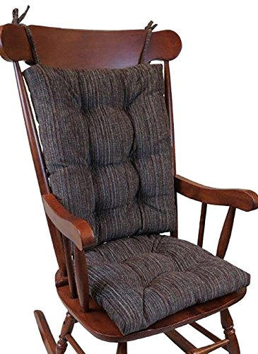 Klear Vu The Gripper Non-Slip Polar Jumbo Rocking Chair Cushions, Chocolate