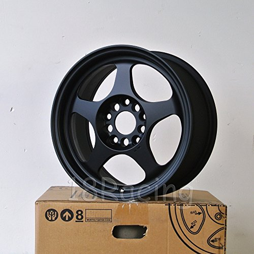4 PCS ROTA SLIPSTREAM WHEELS 16X7 PCD:5X114.3 OFFSET:40 HB:73 FLAT BLACK - Rota Wheel