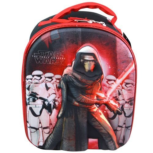 (Star Wars Episode 7 The Force Awakens Kylo Ren First Order Stormstroopers Dome Lunchbox Lunch Bag with Molded Cover)