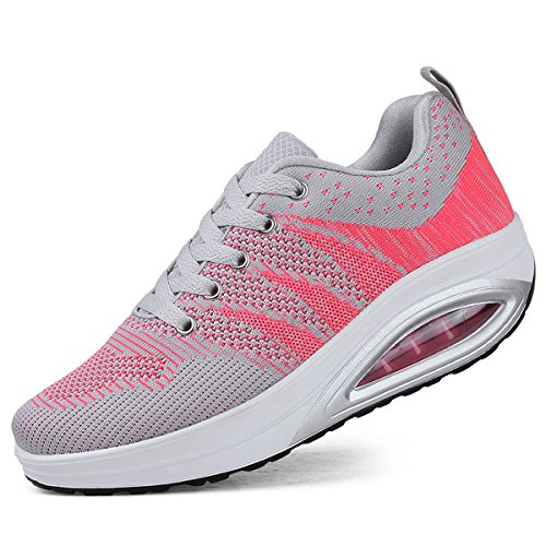 Breathable Womens Fitness US5 Tennis Sneakers Casual Gray 10 Platform Air 5 Comfortable Walking Shoes JARLIF wXRfqnzdXP