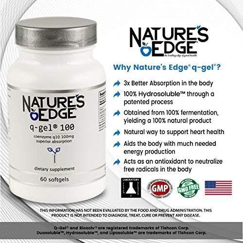 Amazon.com: Natures Edge® QGel® 100mg A Superior Form of ...