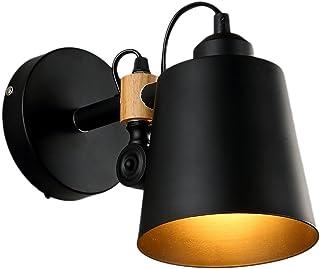 Wandlampe Vintage Metall, Loft Retro Industrielle Edison Wandleuchten Licht Antik Wandlampe Vintage Lampen E27 Birne für Landhaus Schlafzimmer