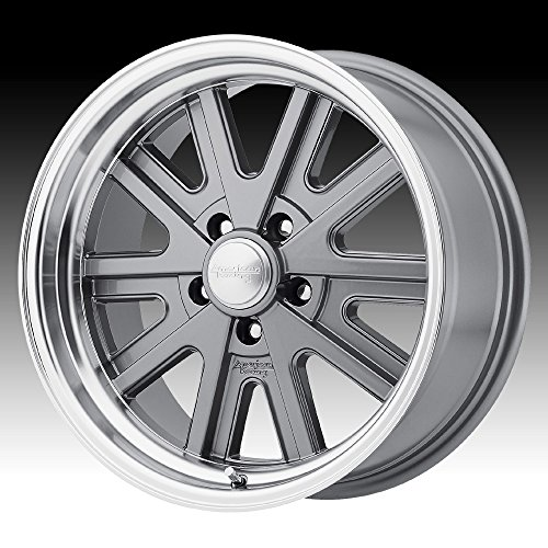 AMERICAN RACING VN527 427 MONO CAST Wheel with GRAY and Chromium (hexavalent compounds) (15 x 8. inches /5 x 76 mm, 0 mm Offset) ()