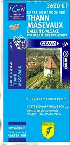En ligne téléchargement TOP25 3620ET ~ Thann, Masevaux carte de randonnée imperméable pdf ebook