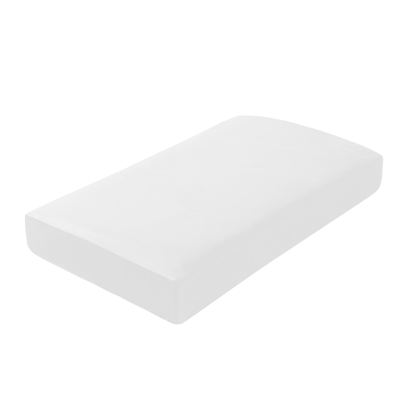 PHF Cotton Crib Fitted Sheet 52X28X8 Sateen Weave Silky Soft Fits Standard Crib /& Toddler Mattress Pack of 2 White