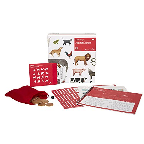 Active Minds Animal Bingo: 8 Player Audio Bingo Board Game for Seniors with Dementia / Alzheimer's (Senior Citizen Games)