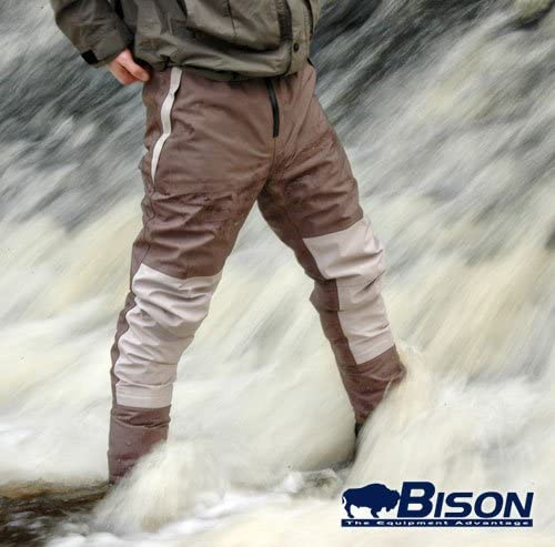 Bison Respirant Taille Cuissardes complète avec Feutre ou Semelle en Caoutchouc Bottes de Wading