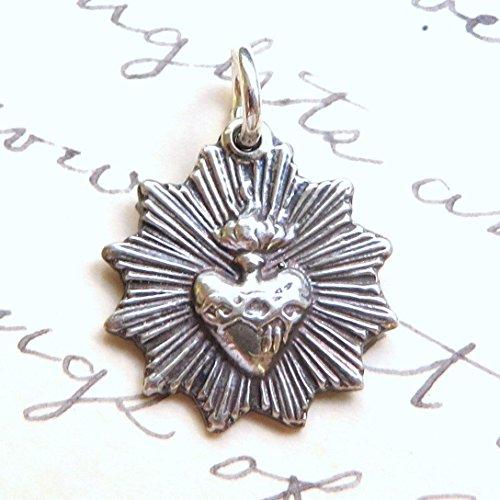 Radiant Sacred Heart of Jesus Medal - Antique (Heart Jesus Medal)