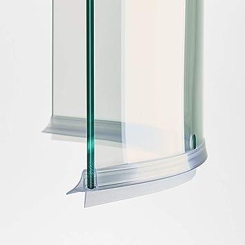 100 cm ec-406 – 18-c Junta Curva mampara de ducha con escurridor para cristales de grosor de 6 y 8 mm: Amazon.es: Bricolaje y herramientas