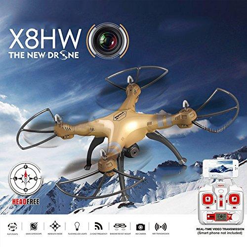 Cewaal X8HW Wifi FPV Drone With 2.0MP HD Camera + SD Card,One Key to Return; Headless Mode,3D Flips,2000mAh Battery Long by Cewaal (Image #3)
