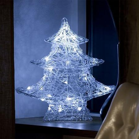 acrylic 3d tree white led christmas decoration 6103 003 made by konstsmide - 3d Acrylic Christmas Decorations