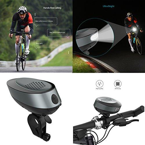 Alice Dreams Bike lampe de poche à LED, 4.1+EDR Bluetooth Haut-parleur de vélo avec 1050 mAh batteri