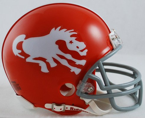 Riddell NFL Denver Broncos 1962-1965 Throwback Replica Vsr4 Mini Football Helmet