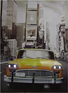 Con pantalla con iluminación LED, diseño de Taxi de Nueva York Taxi Amarillo con mono, incluye cable