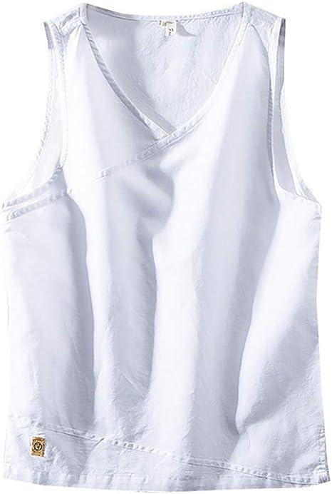 CPBXX Chaleco De Fitness Culturismo para Hombre Camiseta Sin Mangas Gimnasio Entrenamiento Deportivo Chaleco De Algodón Ropa Tops Tops Camisetas Tallas Grandes: Amazon.es: Deportes y aire libre