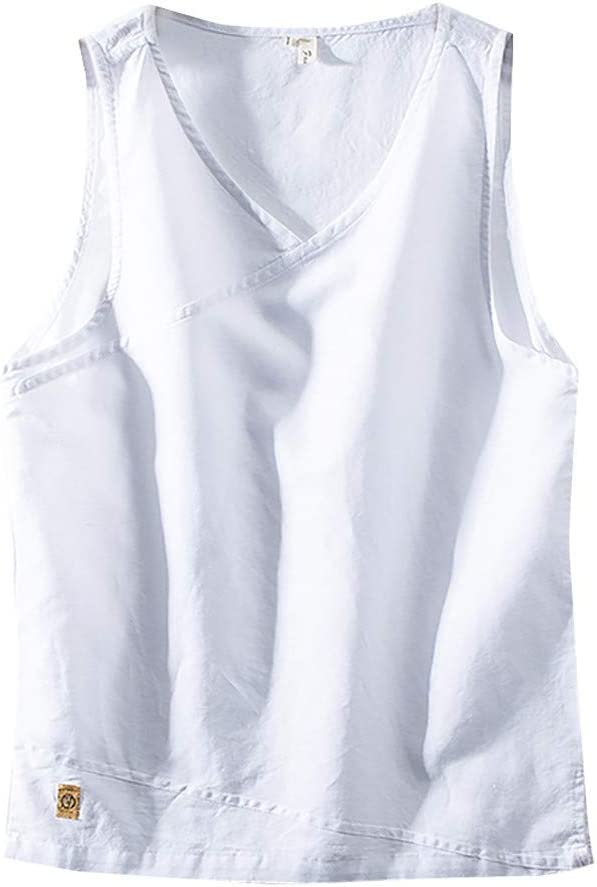 NnuoeN☀ Camiseta de Moda para Hombre Camiseta de algodón de Hombre Camiseta de Manga Corta Beach Yoga Top Retro Camiseta con Cuello en V Top Camisa Blanco L: Amazon.es: Jardín