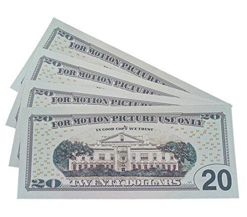 PROP MONEY Realistic double sided fake cash copy 20 dollar bills