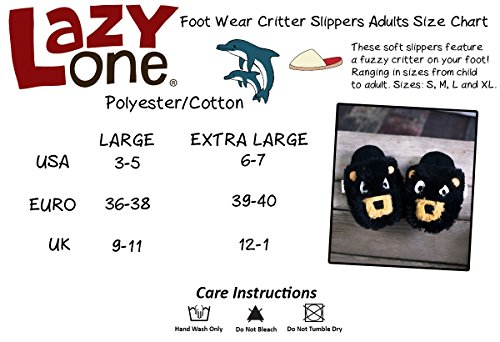 Luie Één Kids Youth / Adult Uil Critter Slippers Slip Op Maat Large