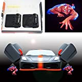 Spoya 3D Crawl Spiderman wireless magnetic car door step LED welcome logo shadow light laser projector light Powered by battery