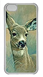 MMZ DIY PHONE CASECool Art Muley Fawn At Six Months Hard Plastic Back Case Cover for iphone 6 plus 5.5 inch Transparent (526 art) _619059