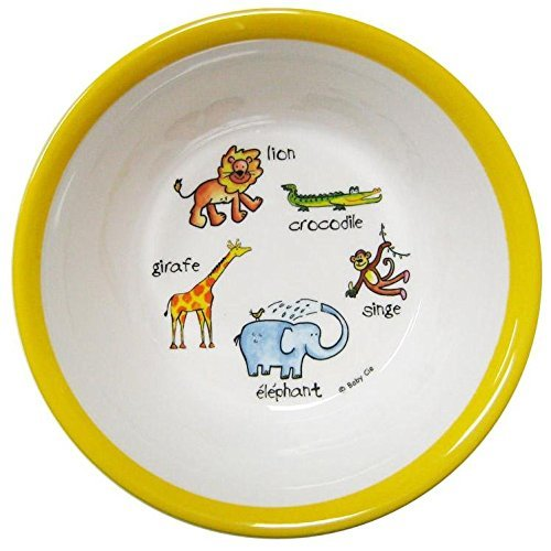 Baby Cie Suction Bowl - Jungle Animals - Yellow (Baby Cie Suction Bowl)