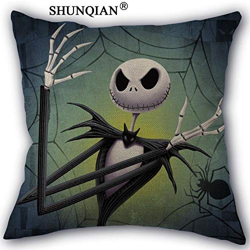 CHITOP The Nightmare Before Christmas -Custom Cotton Pillowcases Zipper Custom Pillow Case More Size Custom Your Image Gift (45x45cm one Side) (Pillowcase (2)) ()