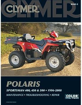 Amazon Com Clymer Repair Manuals For Polaris Sportsman 500 4x4 1996 2006 Automotive