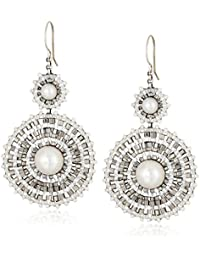 Fresh Water Pearl and Sterling Silver Centric Earrings
