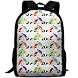 CRSJBB219 Casual Wrestling Wrestlers Pattern Laptop Backpack School Bag Shoulder Bag Travel Daypack Handbag