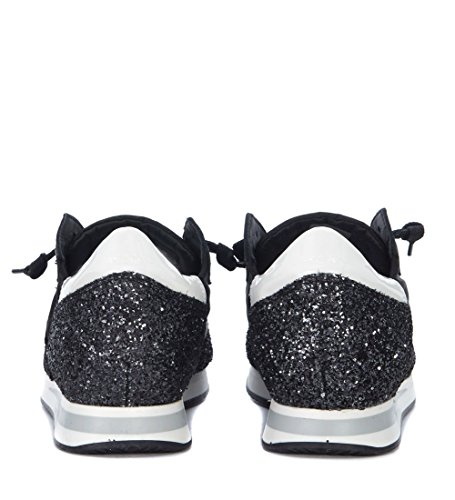 Philippe Model Tropez Black Canvas and Glitter Sneaker Black visit cheap price VoWPDLK2S4