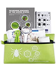 Tick Remover Tool Kit Include Tick Twister,Tick Removal Tweezers,Tick ID Card and First Aid for Dogs Cats and Humans for Lyme Prevention