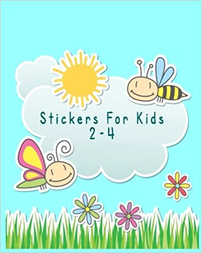Stickers For Kids 2-4: Blank Sticker Book, 8 x 10, 64 Pages
