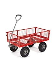 Gorilla Carts Steel Utility Cart with Removable Sides with a ...