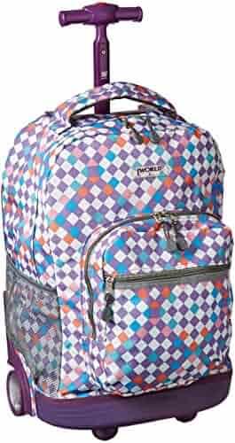 J World New York Sunrise Rolling Backpack