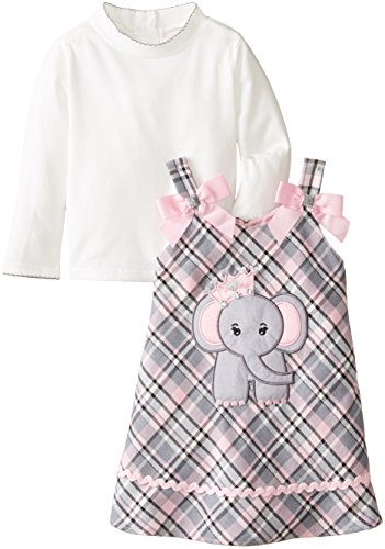 17bff6e35 Youngland Little Girls' Elephant Applique Jumper Dress - Buy Online in UAE.  | Apparel Products in the UAE - See Prices, Reviews and Free Delivery in  Dubai, ...