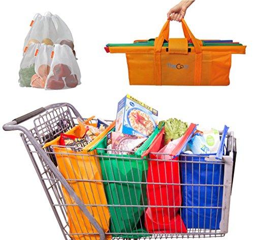 Reusable Grocery Cart Bags - 4