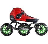 Atom Luigino Strut 3 Wheel Indoor Inline Skate Package (Size 12, Red)