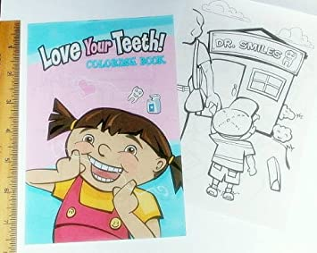 Amazon.com: ~ 12 ~ Love Your Teeth Coloring Books ~ 5\