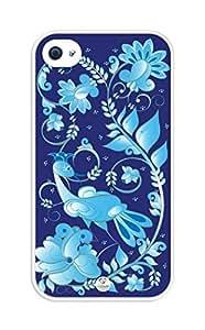 iZERCASE Bird rubber iphone 4 case - Fits iphone 4 & iphone 4s