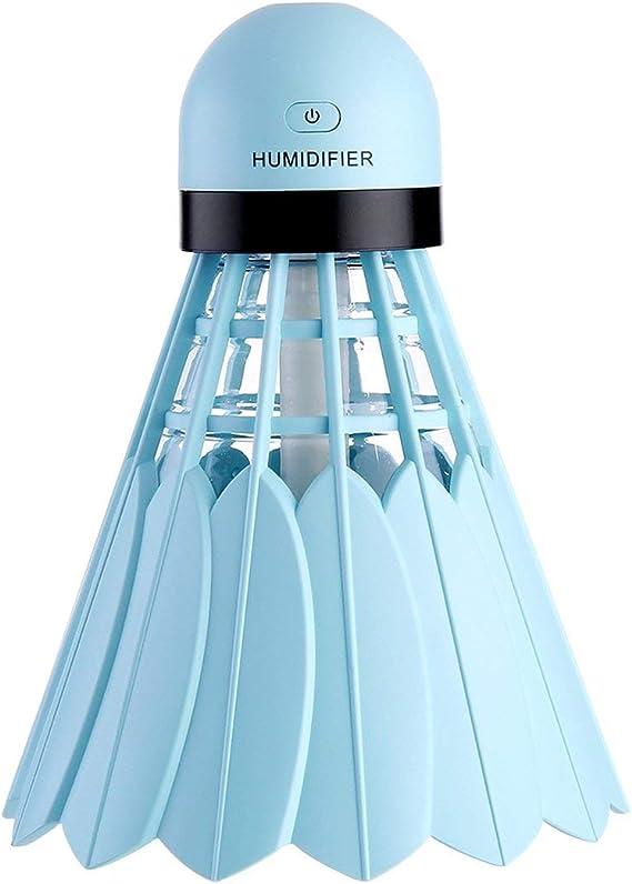 ngzhongtu Humidificador de bádminton Creativo Purificador de Aire Máquina de hidratación de reposición de Agua Máquina de decoración de Coches de Oficina - Azul: Amazon.es: Hogar