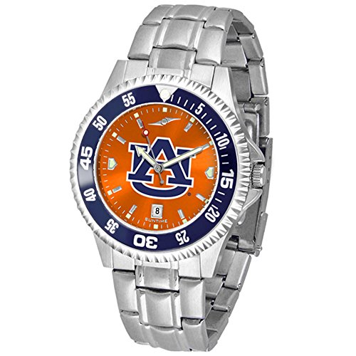 Auburn Tigers Sport Watch (Auburn Tigers Competitor Steel AnoChrome Color Bezel Men's Watch)
