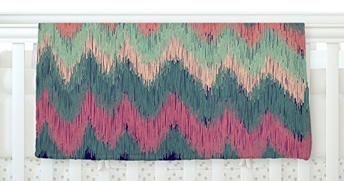 KESS InHouse Nika Martinez Ikat Chevron Multicolor 30 x 40 Fleece Baby Blanket 40 x 30 [並行輸入品]   B077ZYT4BH