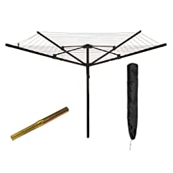LIVIVO ® Outdoor Garden 4 Arm 45m folding Rotary Washing Line Clothes Airer Dryer