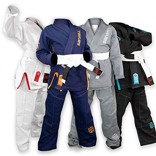 Sanabul Future Legend Kids Brazilian Jiu Jitsu BJJ Gi (Navy/Orange, K3) (Best Martial Arts For Kids)