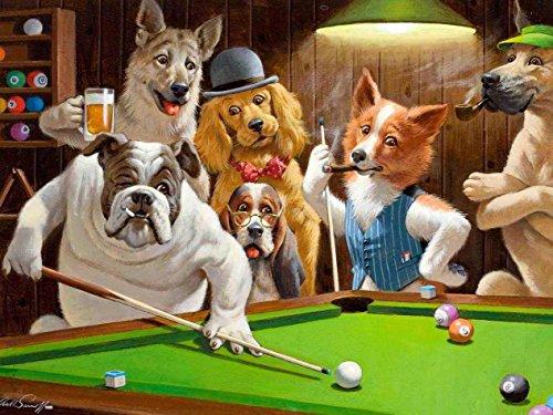 Dog's: Bilhar - Arthur Sarnoff | Tela Enorme Para Quadro
