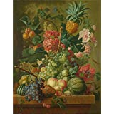 'Paulus Theodorus van Brussel Fruit and Flowers ' oil painting, 8 x 10 inch / 20 x 26 cm ,printed on Perfect effect canvas ,this Amazing Art Decorative Canvas Prints is perfectly suitalbe for Laundry Room decoration and Home gallery art and Gifts