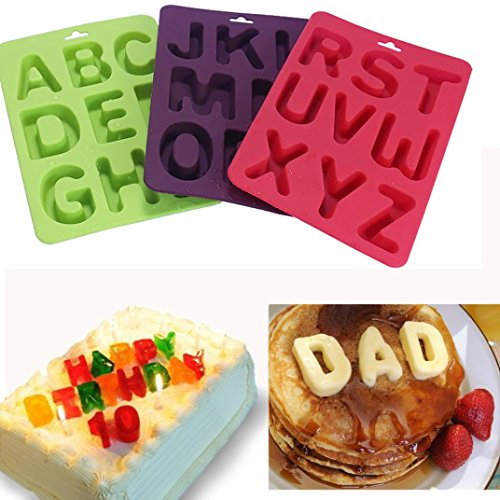 Dolloress 3Pcs / Set Of 26 Capital Letters DIY Mold Silicone